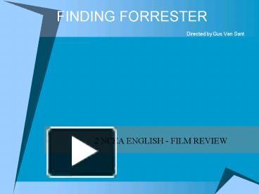 finding forrester plot summary