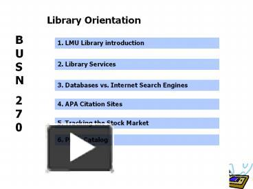 orientation library search