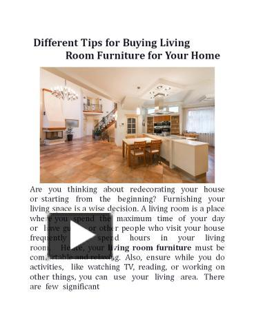 Different Tips for Buying Living Room Furniture for Your Home. PowerPoint