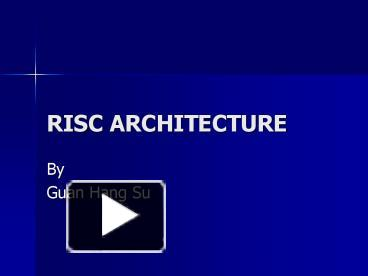 risc and cisc difference ppt