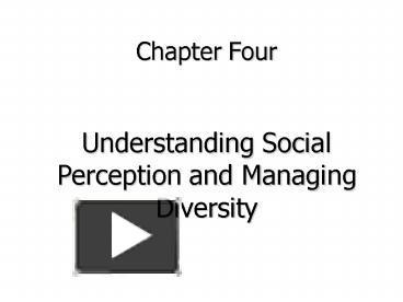 understanding social perception managing diversity
