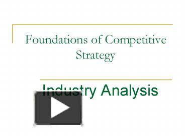foundations of competitive analysis