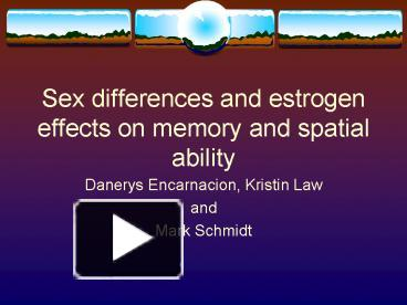 What spatial ability sex differences agree