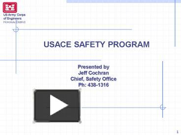 PPT USACE SAFETY PROGRAM PowerPoint Presentation