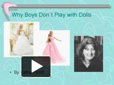 why boys dont play with dolls