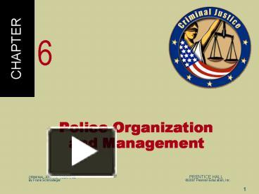 PPT – Police Organization and Management PowerPoint