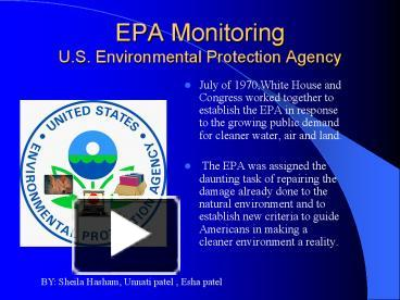 environmental protection agency epa essay Massachusetts v environmental protection agency is a 2007 united states supreme court ruling that found that carbon dioxide and greenhouse gases are air pollutants under the clean air act and can be regulated by the environmental protection agency (epa) highlights.