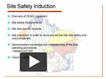 ppt – site safety induction powerpoint presentation | free to view, Presentation templates