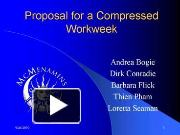 compressed work week proposal template - ppt proposal for a compressed workweek powerpoint