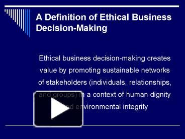 a description of the proper ethics in a business perspective A history of business ethics, focusing on ethics in business, business ethics as an academic field and a movement  from an academic perspective, .