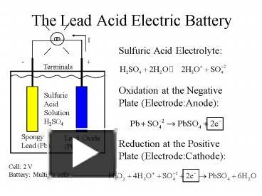 Ppt the lead acid electric battery powerpoint presentation free ppt the lead acid electric battery powerpoint presentation free to view id a64a9 nzyxn ccuart Images