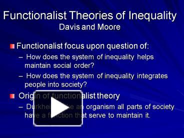 durkheims functionalist theory Durkheim and his theory on crime durkheim argues that crime is inevitable for two main reasons: everyone is socialised differently and some people may not be effectively socialised poor socialisation means that they do not accept the shared norms and values of mainstream society which can make them deviant.