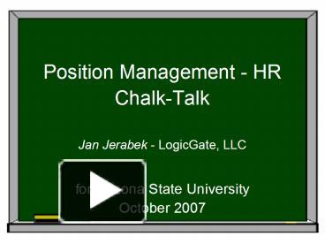 PPT – Position Management HR PowerPoint presentation | free