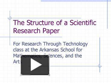 Structure of a scientific research paper