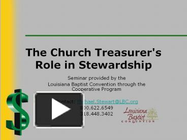 Viva: Stewardship - The Youth Cartel |Stewardship Powerpoint