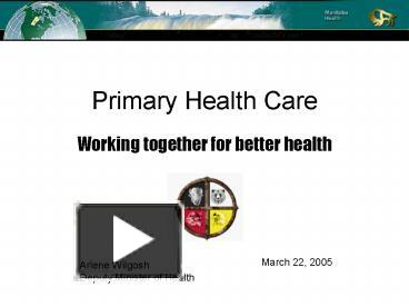 PPT - Primary Health Care PowerPoint presentation | free ...