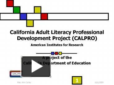 California adult literacy