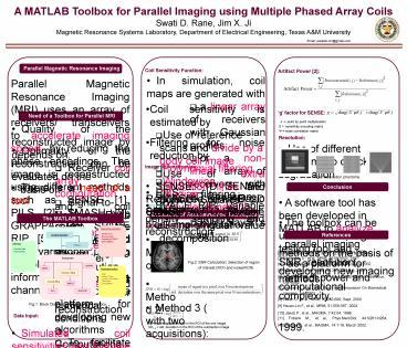 PPT – A MATLAB Toolbox for Parallel Imaging using Multiple Phased