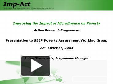 impact of micro finance on poverty