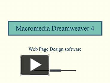 dreamweaver mx8