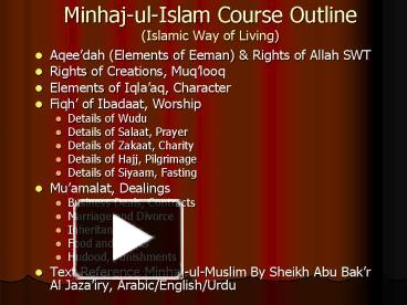 course outline zakat accounting