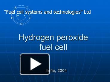 PPT – Hydrogen peroxide fuel cell PowerPoint presentation | free to