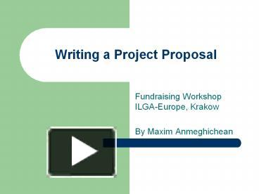 How to write thesis proposal ppt