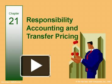 responsibility center accounting and transfer pricing