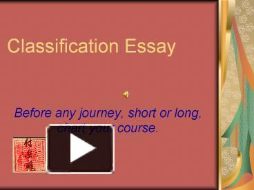 classification essays friends