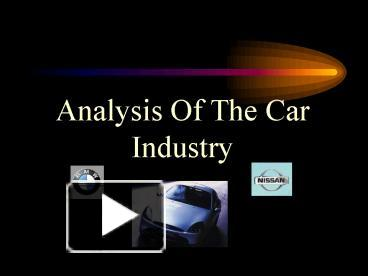 pest analysis for the car industry