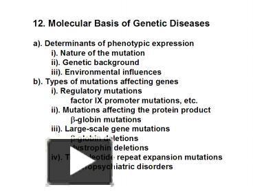 molecular basis of gene mutation
