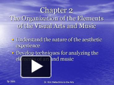 Elements And Organization Of Visual Arts : Ppt u chapter the organization of elements visual