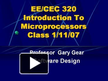 an introduction to microprocessors