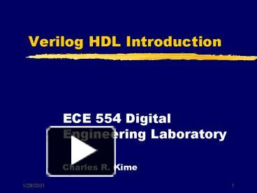 PPT – Verilog HDL Introduction PowerPoint presentation