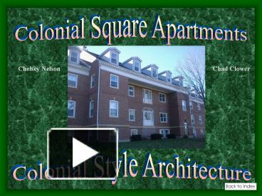 Ppt Colonial Style Architecture Powerpoint Presentation Free To