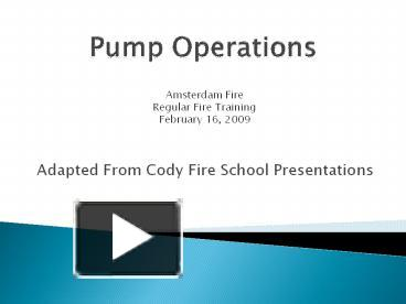 PPT – Pump Operations PowerPoint presentation   free to