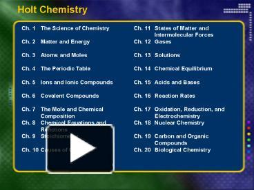 holt chemistry section 2 quiz