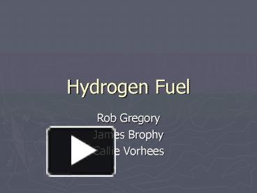 Hydrogen fuel cell vehicle ppt.