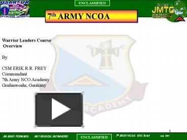 ppt 7th army ncoa powerpoint presentation free to view id