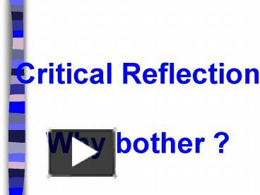 reflect on and improve own practice Reflecting on teaching examining your practice is one of the best ways to improve it by jennifer l hindman and james h stronge how is my class going.