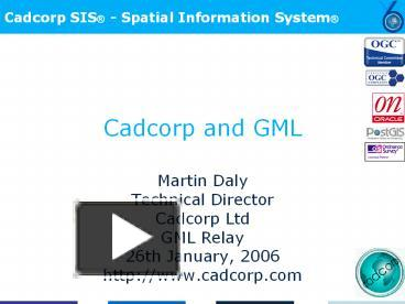 PPT – Cadcorp and GML PowerPoint presentation | free to