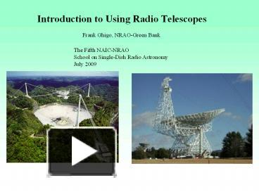 an introduction to telescopes