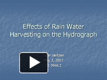 effects of rain