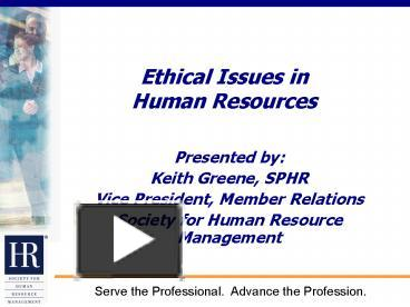 top five ethical issues in human
