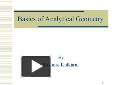 ppt basics of analytical geometry powerpoint presentation free