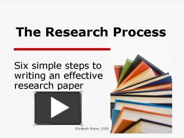 steps writing effective research paper