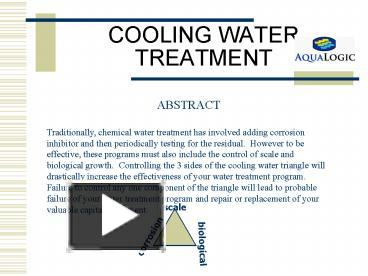 PPT – COOLING WATER TREATMENT PowerPoint presentation | free to view