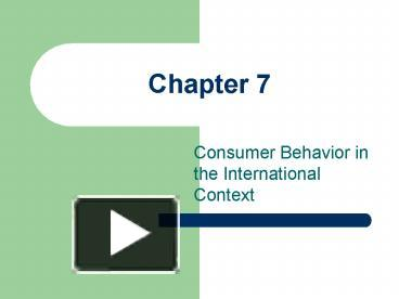 consumer perception and behaviour with small