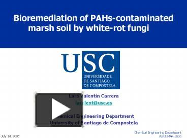 PPT – Bioremediation of PAHs-contaminated marsh soil by