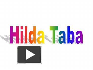 Hilda taba 1962 curriculum development model youtube.